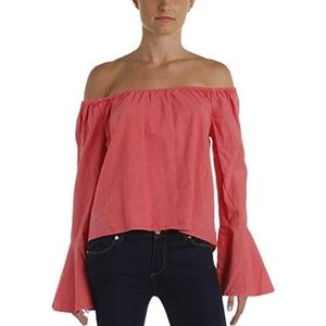 NWT BUFFALO Linen Flare Bell Tarley Shoulder T